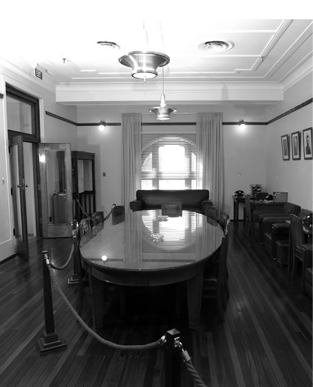 Black and white image of the Country Party Room.