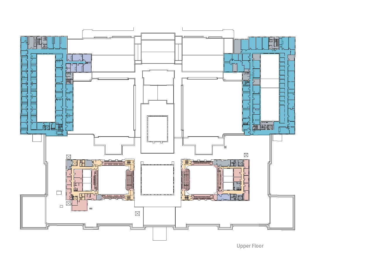 A floorplan showing the 2013 use plan, upper floor.