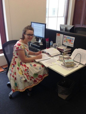 Sarah Hedberg, Australian National Internships Program placement at the APMC in 2013
