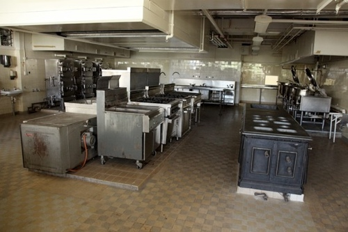 The main kitchen.